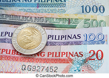 Philippine Peso with coin