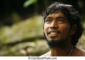 Philippine the man - Portrait Philippine men outdoor. ...