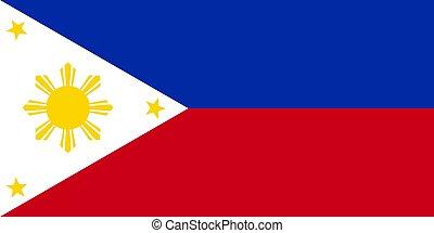 philippine, vector, bandera
