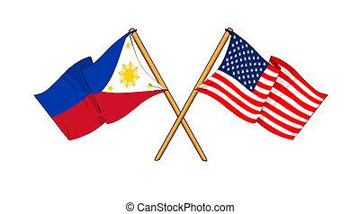 philippines, alliance, amitié, amérique