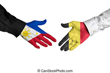 Philippines and Belgium leaders