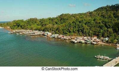 philippines., balabac, 도시, palawan, 항구, 섬