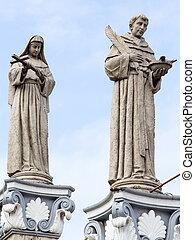 philippines., basilique, nino., del, statue, santo, cebu