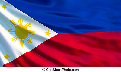 Philippines flag. 3d illustration