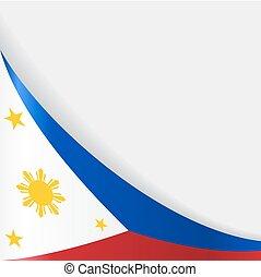 Philippines flag background. Vector illustration. -...