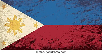 Philippines flag Grunge background. Vector illustration Eps...
