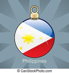 Philippines flag in christmas bulb - fully editable vector...