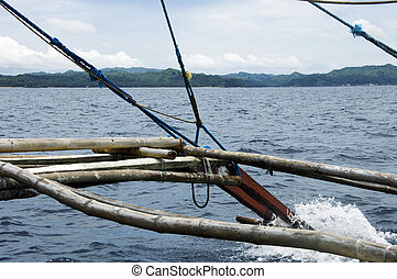Philippines island from pump boat - View of Philippines ...