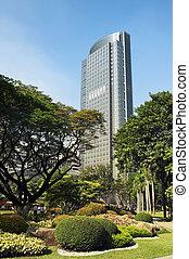 philippines, -, manille, bâtiment, échange, stockage, ...