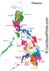 Philippines map - Map of Republic of the Philippines with...