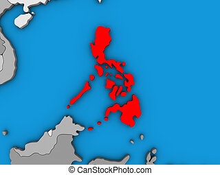 Philippines on 3D map