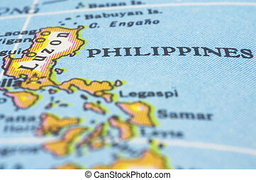 philippines on map philippines marker on map asia countries