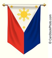 Philippines Pennant - Philippines flag or pennant isolated...