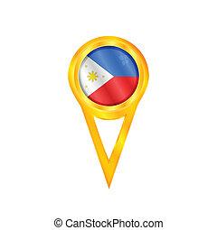 Philippines pin flag