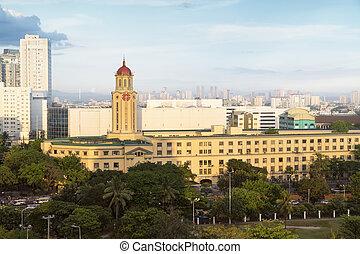 philippines, -, ville, manille, salle