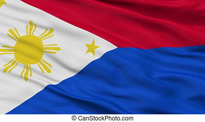 Philippines War Flag Closeup Seamless Loop - War The...