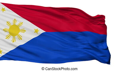 Philippines War Flag Isolated Seamless Loop - War The...