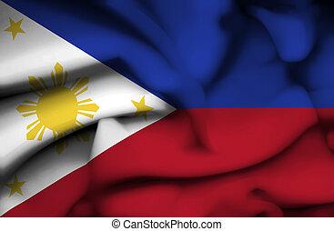 phillipines, bandera ondeante