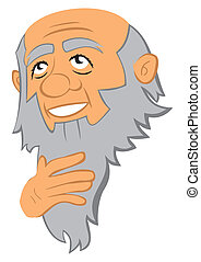 Philosopher - Portrait of thinking old man with beard