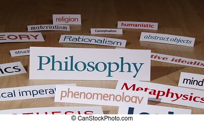 Philosophy, concept - Philosophy, terms, words
