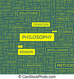 PHILOSOPHY. Word cloud illustration. Tag cloud concept...