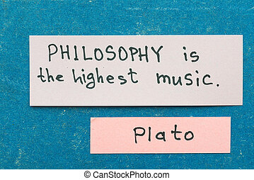 Philosophy is - famous ancient Greek philosopher Plato quote...