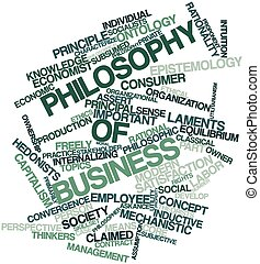 Philosophy of business - Abstract word cloud for Philosophy...