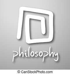 Philosophy symbol - Creative design of philosophy symbol