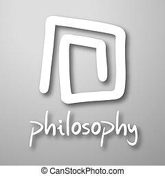 Philosophy symbol - Creative design of philosophy symbol