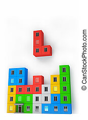 Tetris on the construction and real estate industry
