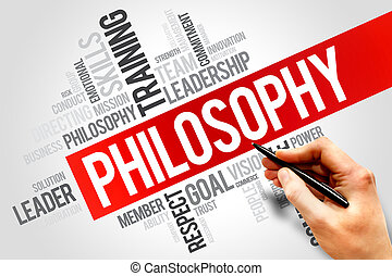 Philosophy word cloud, business concept