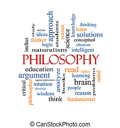 Philosophy Word Cloud Concept with great terms such as...
