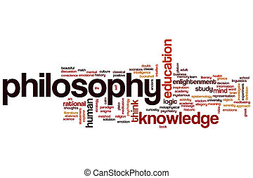 Philosophy concept word cloud background