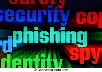 Phishing and spy concept