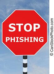 phishing, concept, arrêt