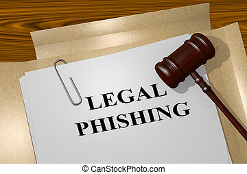 phishing, concept, légal