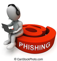 Phishing E-mail Internet Threat Protection 3d Rendering