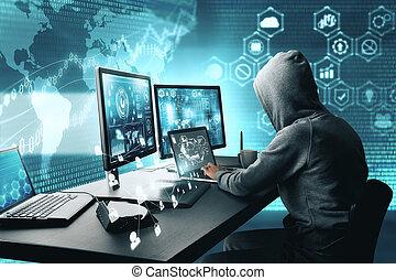 phishing, hacher, concept