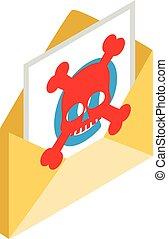 Phishing icon, isometric style