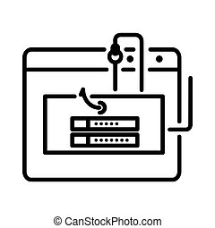 phishing, parola accesso, disegno, illustrazione