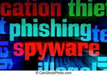phishing, spyware