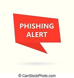 phishing, texte, bulle, speach, alerte