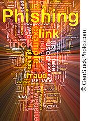phishing, wordcloud, 概念, 白熱, 背景