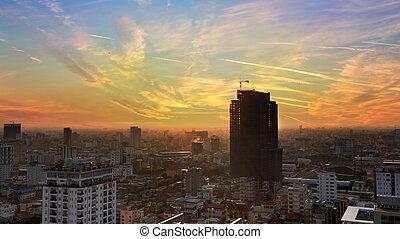 Phnom Penh Evening Overview