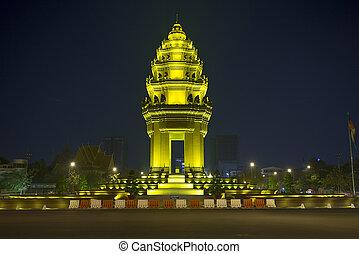 phnom penh, unabhängigkeit, cambodscha, denkmal