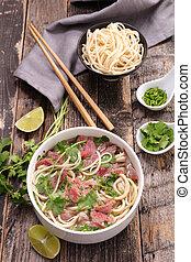 pho, nötkött, ingrediens