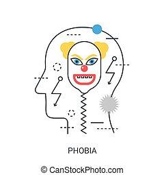 Phobia vector illustration concept.