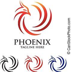 phoenix abstract logo