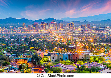 Phoenix, Arizona, USA Cityscape - Phoenix, Arizona, USA ...