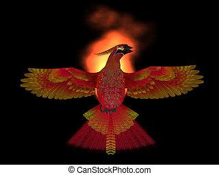 Phoenix Bird Fire - The Phoenix Bird is a symbol of new...